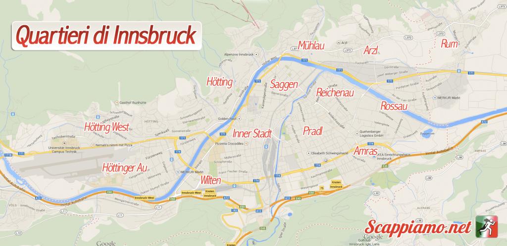 Mappa quartieri Innsbruck
